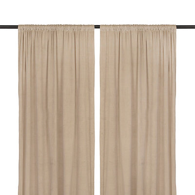 Stone Velvet Curtain Panel Set, 96 in.