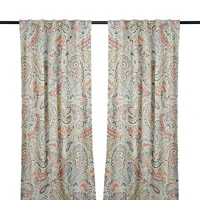 Aqua and Spice Jada Curtain Panel Set, 96 in.