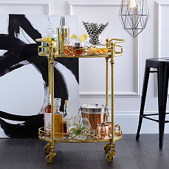 Gold Mirrored Bar Cart