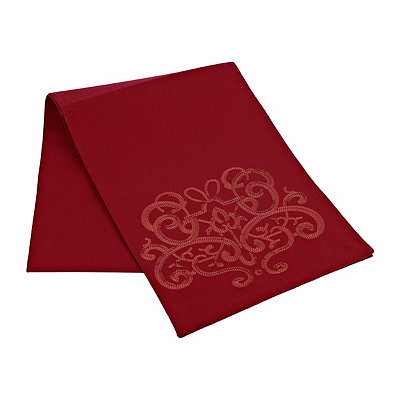 Red Sequin Scroll Table Runner