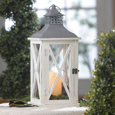 White and Gray LED Lantern