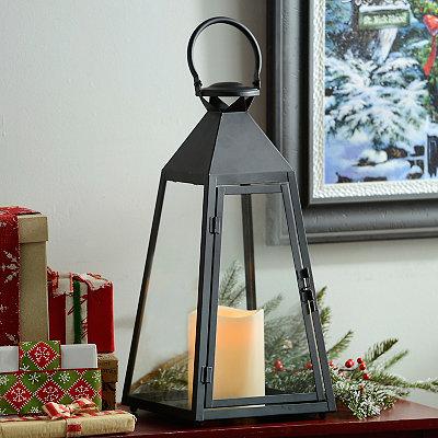 Black Pyramid LED Lantern