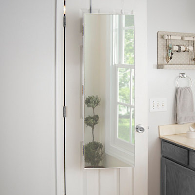 White Over-the-door Makeup Armoire Mirror