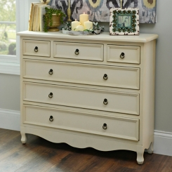 Camille Distressed Cream Chest