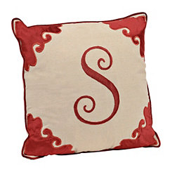 Red Velvet Monogram S Pillow