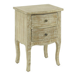 Natural Bombay 2-Drawer Accent Table
