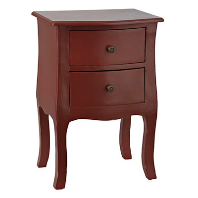 Red Bombay 2-Drawer Accent Table