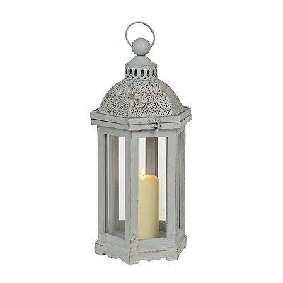Pierced Gray Dome Lantern