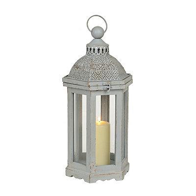Pierced Gray Dome Lantern