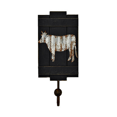 Galvanized Cow Barnyard Wall Hook