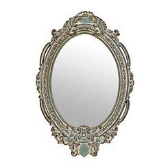 Ornate Blue Victorian Mirror