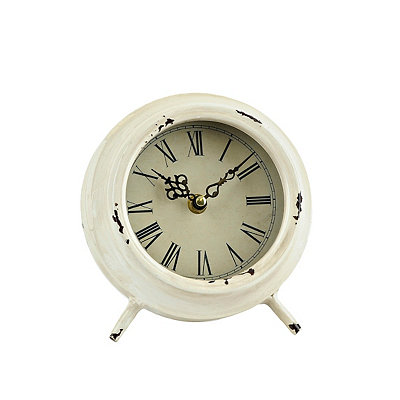 Antique Cream Colorburst Clock
