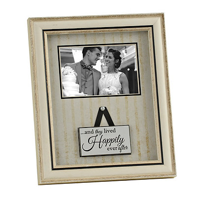 Ivory Happily Ever After Picture Frame, 4x6