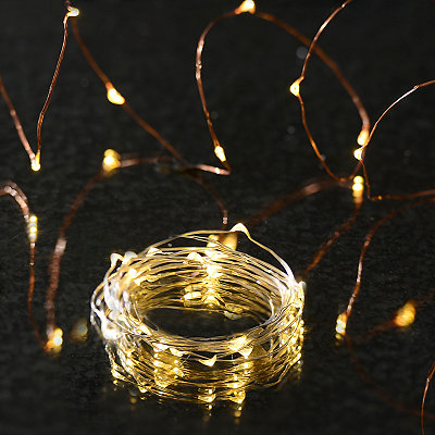 Silver Wire LED String Lights
