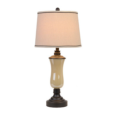 Pearl Glass Urn Table Lamp