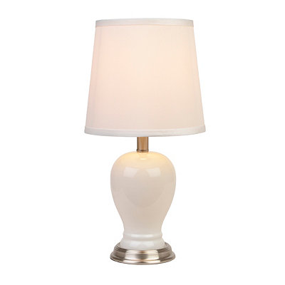 Painted Glass Tapered Table Lamp