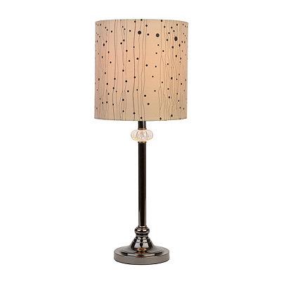 Black and Dots Sleek Jewel Table Lamp