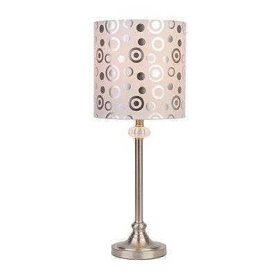 Brushed Nickel Sleek Jewel Table Lamp