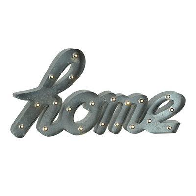 Pre-Lit Home Plaque