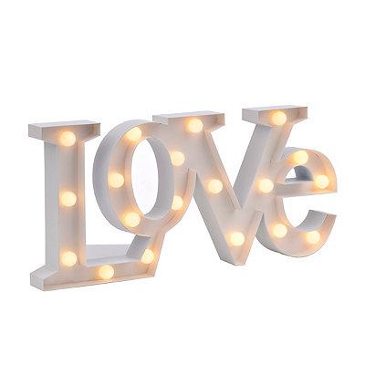 Pre-Lit Love Plaque