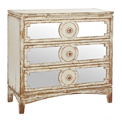 Distressed Abbey Mirrored Chest