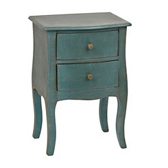 Turquoise Bombay 2-Drawer Accent Table