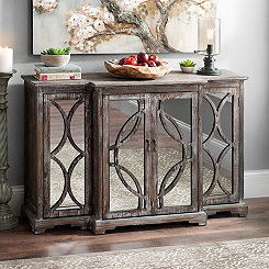 Galloway Rustic Mirrored Sideboard