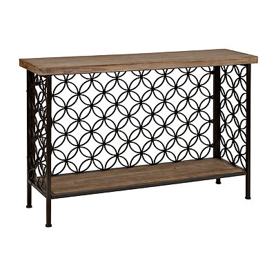 Fairmont Wood and Metal Console Table