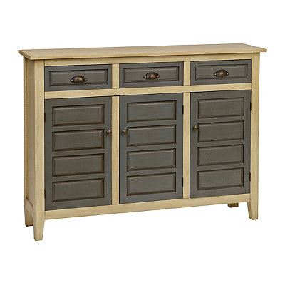 Cream and Gray Farmhouse Cabinet