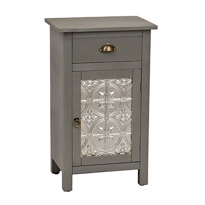 Antique Gray Farmhouse Side Cabinet