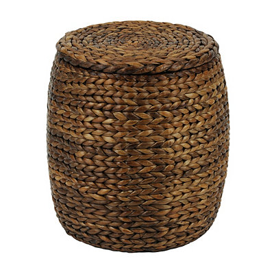 Natural Woven Round Ottoman