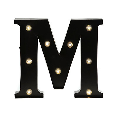 Bronze Metal LED Monogram M Plaque