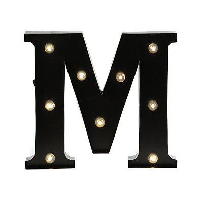 Bronze Metal LED Monogram M Plaque