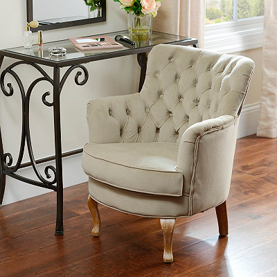 Bella Tan Vanity Chair