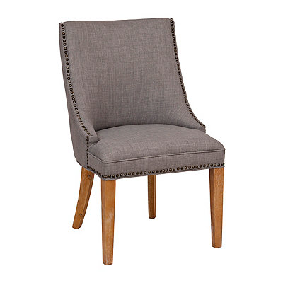 Darla Gray Linen Accent Chair