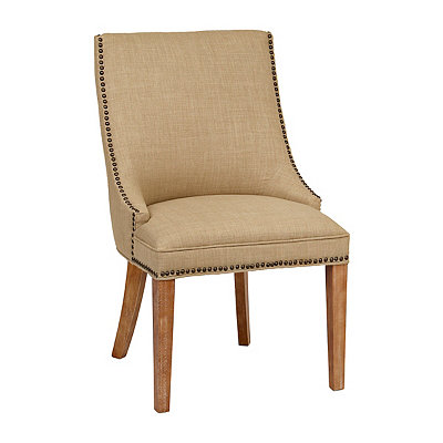 Darla Natural Linen Accent Chair
