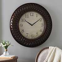 Bronze Weave Clock