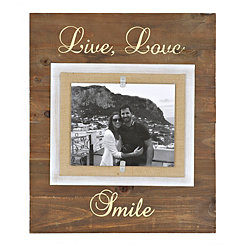 Live, Love, Smile Gold Picture Frame, 8x10