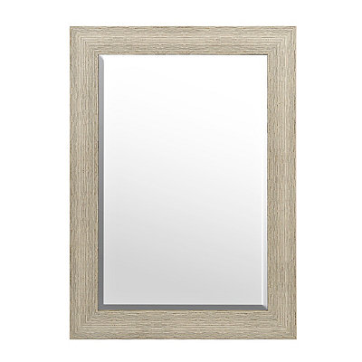 Weathered Wood Framed Mirror, 32x44 in.
