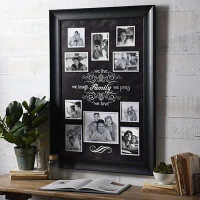 Black and White Family Sentiment Collage Frame