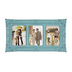 Turquoise Victorian 3-Opening Collage Frame