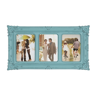 turquoise victorian 3 opening collage frame