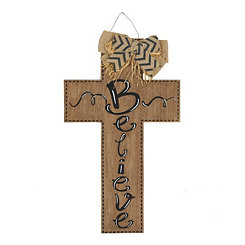Believe Natural Wooden Cross