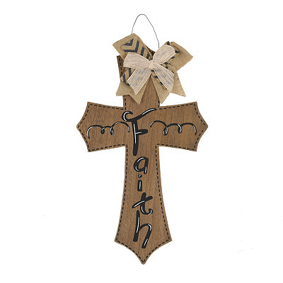 Faith Natural Wooden Cross