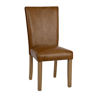 Brown Faux Leather Catina Parsons Chair