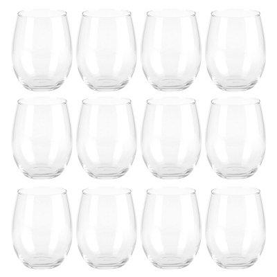 Stemless Wine Glasses, Set of 12
