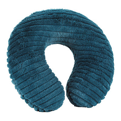 Faux Fur Teal Memory Foam Neck Pillow