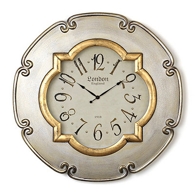 Silver and Gold Barletta Clock