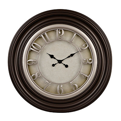 La Scala Dusky Brown and Champagne Clock