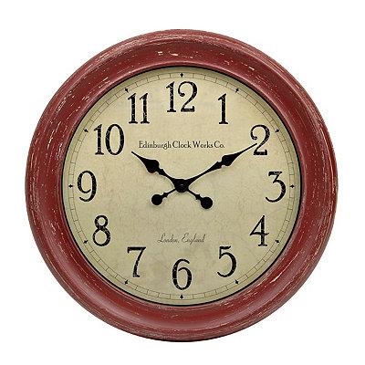 Distressed Red Celebrity Clock